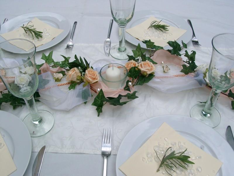 Pin Apricot Creme Hochzeit Kommunion Konfirmation Tischdeko Taufe Deko ...
