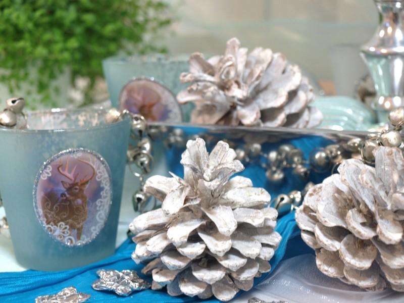 500g tischdeko deko weihnachten advent adventskranz basteln schneezapfen zapfen ebay. Black Bedroom Furniture Sets. Home Design Ideas