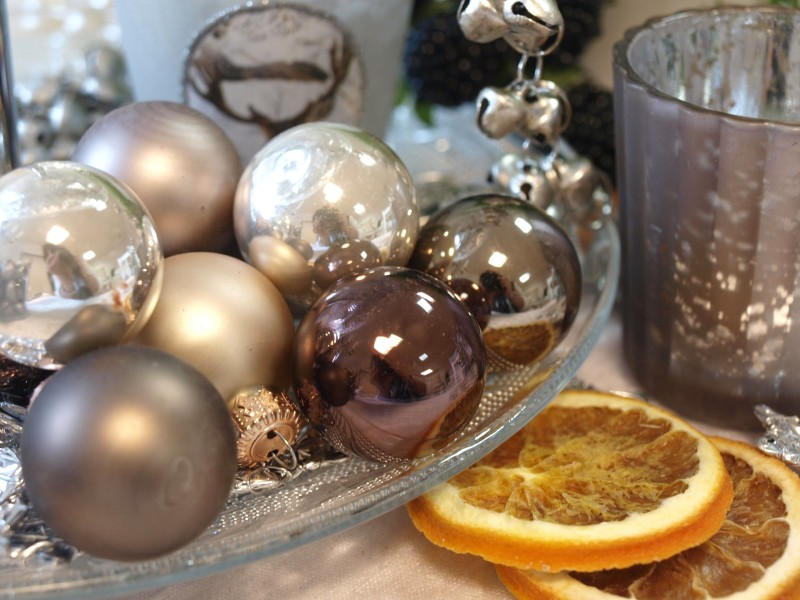 45 kugeln creme braun weihnachtskugel baumschmuck for Weihnachtskugeln durchsichtig
