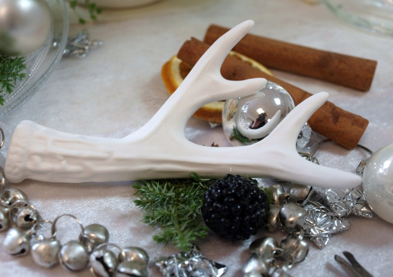 4 hirsch geweih rentier wei landhaus weihnachten weihnachtsdeko deko tischdeko ebay. Black Bedroom Furniture Sets. Home Design Ideas