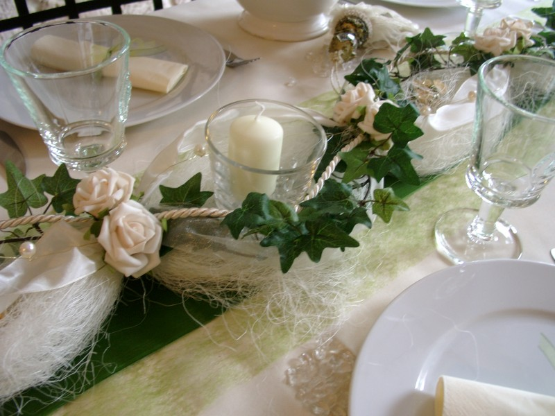 Tischdeko hochzeit gr n creme alle guten ideen ber die ehe for Hochzeitsdeko creme