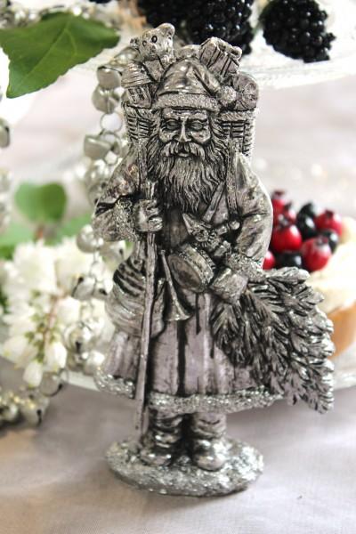 nikolaus tischdeko fensterbank advent adventskranz silber weihnachten deko ebay. Black Bedroom Furniture Sets. Home Design Ideas