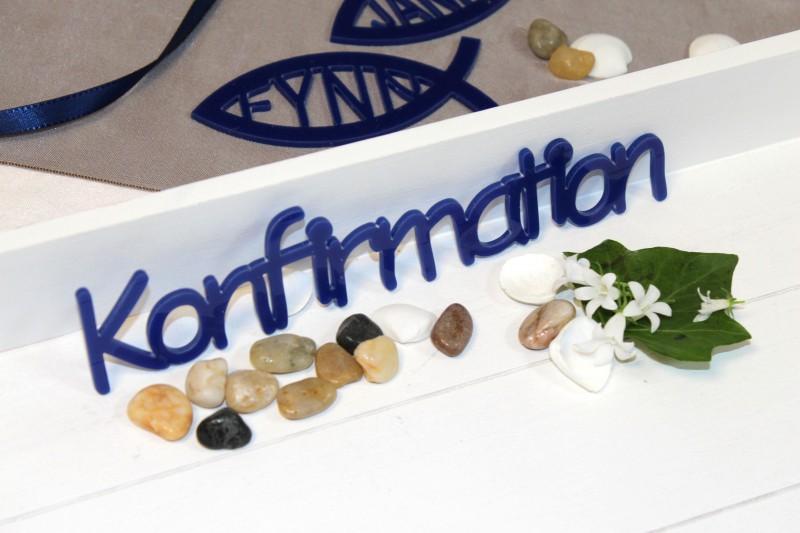 Tischdeko konfirmation basteln  Konfirmation Acryl Blau Schriftzug Tischdeko Schrift Buchstaben ...
