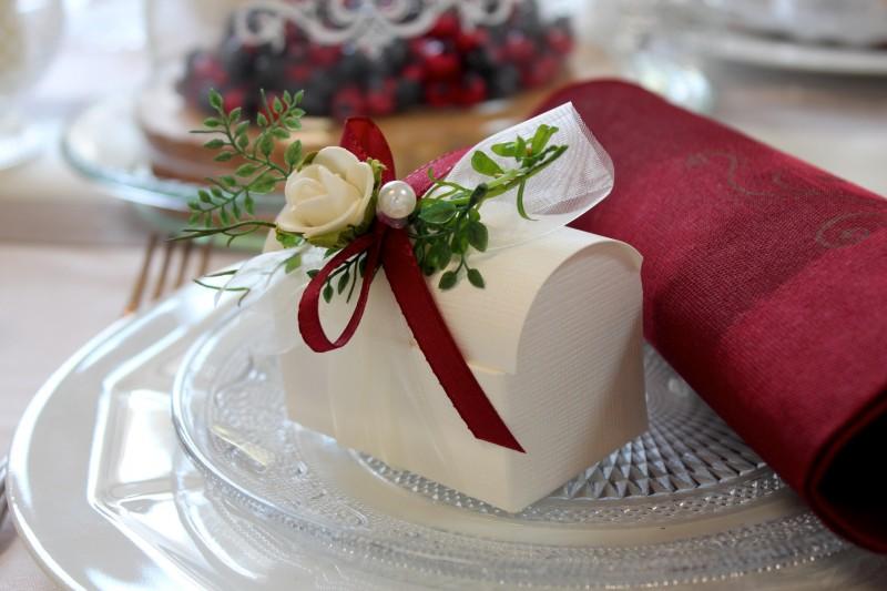 Gastgeschenk Creme Bordeaux Bordo Hochzeit Kommunion