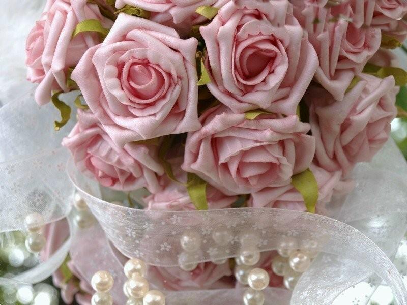 Pin 24 Rosen Rosa Hochzeit Tischdeko Kommunion Taufe Konfirmation on ...