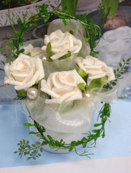 Pin Blumengestecke Hochzeit Tischgestecke Rosengestecke on Pinterest