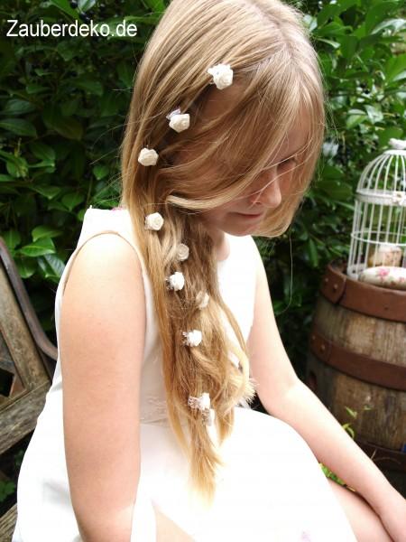 10 haarclips creme haarklammern haarschmuck kopfschmuck