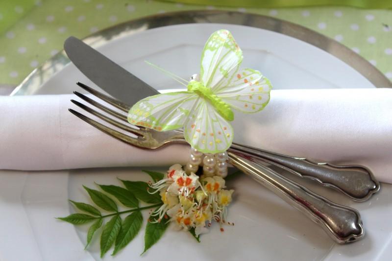 12 Schmetterlinge Grün Deko Tischdeko Kommunion Taufe Hochzeit ...