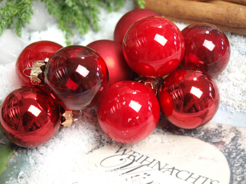 45 kugeln rot weihnachtskugel weihnachten christmas world. Black Bedroom Furniture Sets. Home Design Ideas