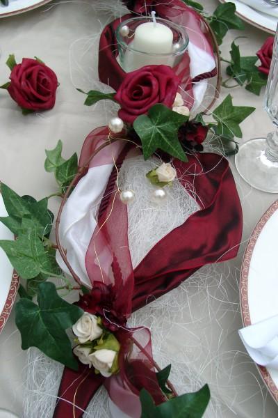 1 2m Gesteck Bordeaux Creme Hochzeit Hochzeit Tischdeko