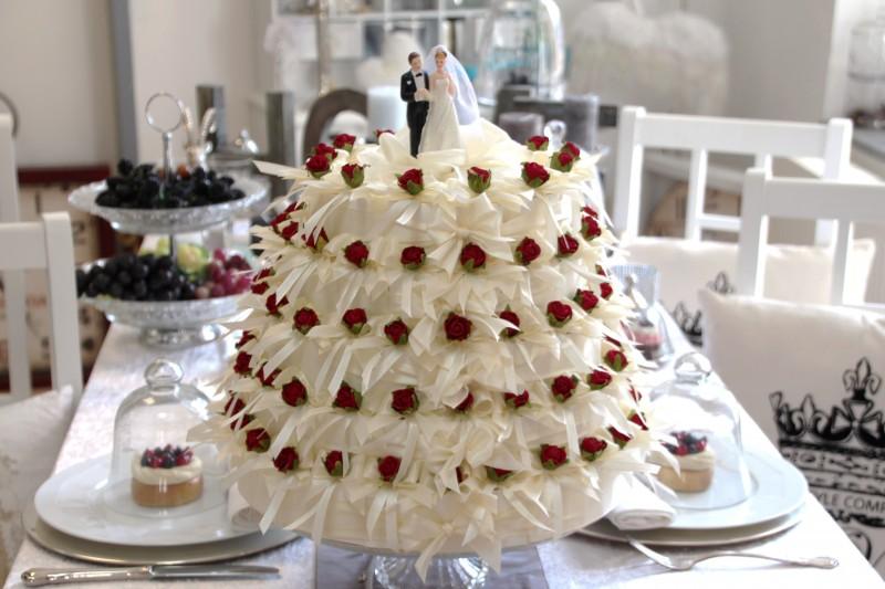 Deko hochzeit torte - Tischdeko silberhochzeit selber machen ...