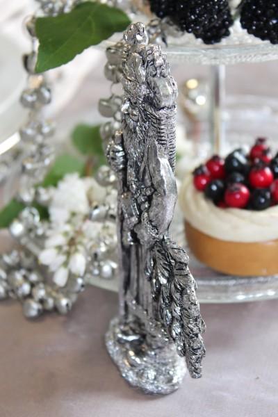 Weihnachtsmann Tischdeko Advent Silber Christmas World Deko Trends