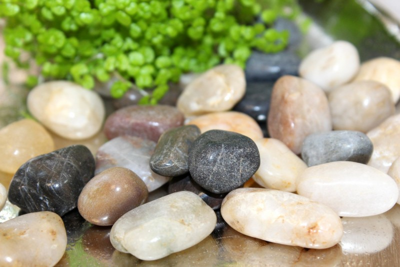 500g streudeko steine kieselsteine flusskiesel hochzeit for Deko garten steine