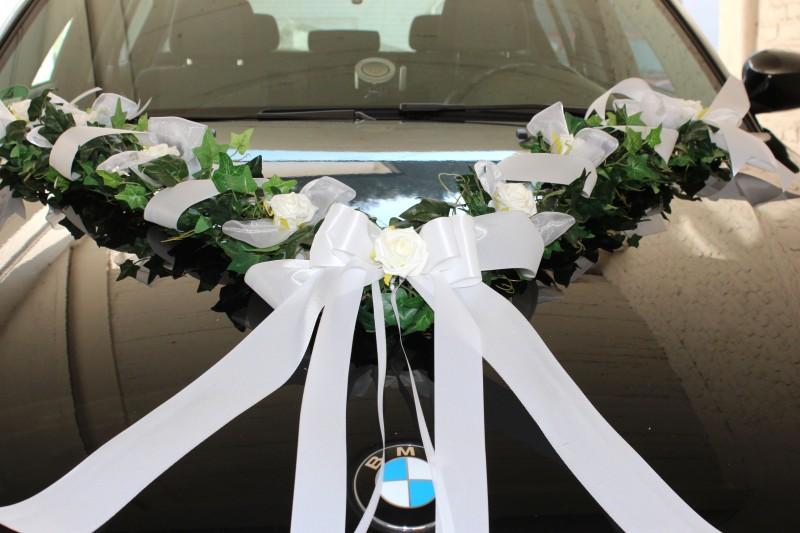 ... Autodeko Hochzeit Autogirlande Autoschleifen Girlande Deko Hochzeit