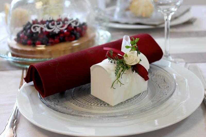 Gastgeschenk Truhe Rose Creme Bordeaux Hochzeit G Ste Und