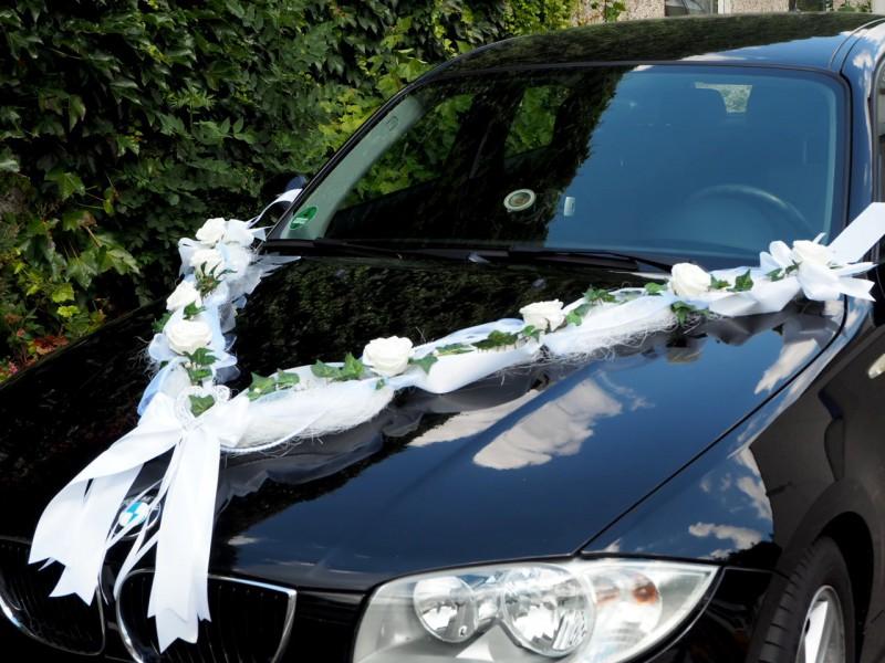 Autoschmuck Autodeko Girlande Weiß Hochzeit Tischdeko Deko ...