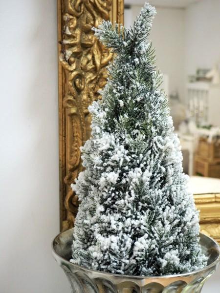 Tannenbaum schnee blumentopf fensterbank weihnachten deko for Tischdeko blumentopf