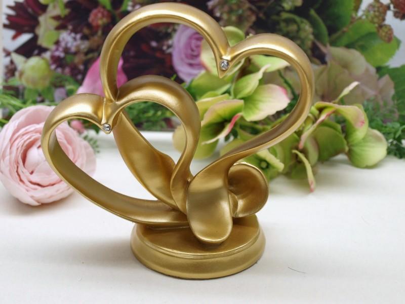 Tortendeko herz gold goldhochzeit hochzeit tischdeko for Herz tischdeko