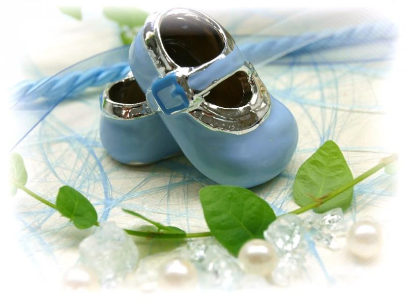 babyschuhe hellblau silber streudeko tortenaufsatz junge. Black Bedroom Furniture Sets. Home Design Ideas