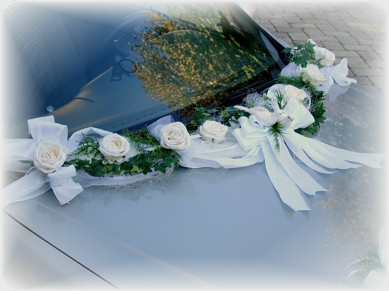 Autoschmuck Autodeko Hochzeit Tischdeko Deko Autogirlande ...