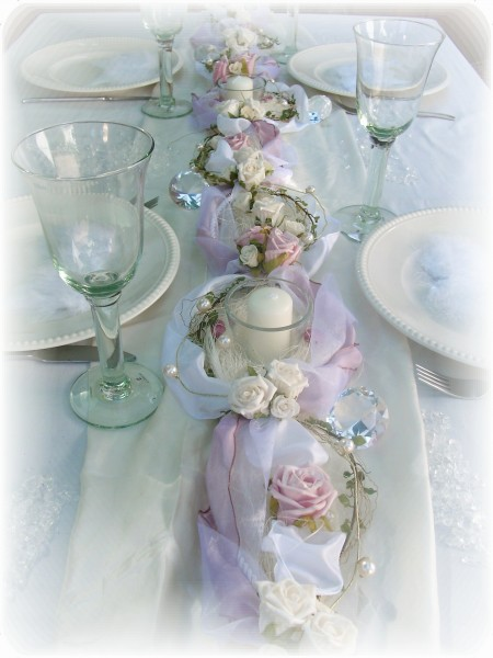 1 2m gesteck rosa wei hochzeit taufe taufe tischdeko gestecke for Rosa tischdeko