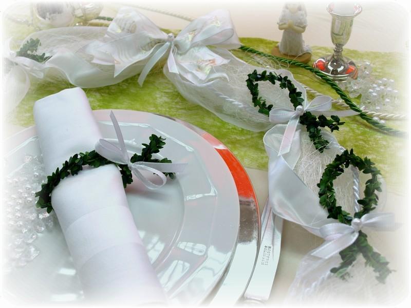 tischdeko ehrenplatz kommunion fisch konfirmation deko wei. Black Bedroom Furniture Sets. Home Design Ideas
