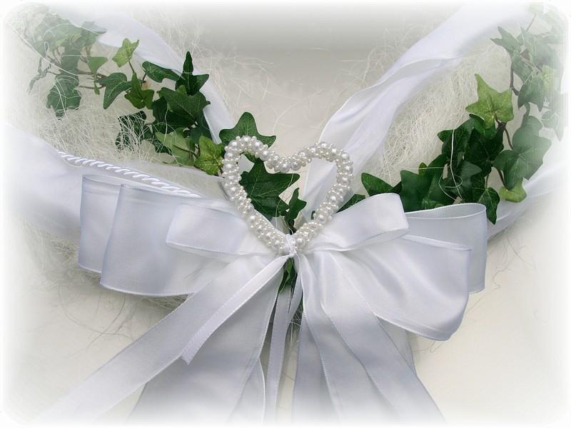 ... Autodeko Hochzeit Autogirlande Girlande weiß Deko Hochzeit Autodeko