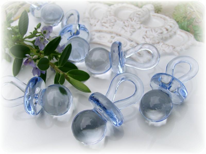 36 schnuller acryl hellblau acrylschnuller streudeko tischdeko taufe baby junge basteln taufe. Black Bedroom Furniture Sets. Home Design Ideas