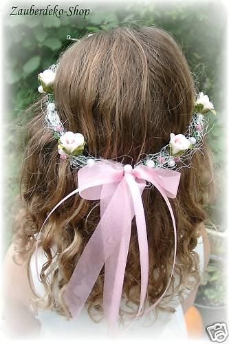 Haarschmuck Kopfschmuck Hochzeit Haarkranz Blumenkind rosa ...